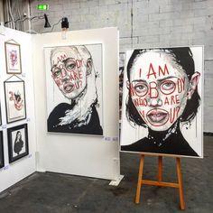My paintings at the Stroke Art Fair in Munich last week. My paintings at the Stroke Art Fair in Muni Art Inspo, Inspiration Art, Tableau Pop Art, Gcse Art Sketchbook, Sketchbook Layout, Sketchbook Ideas, Sketchbook Inspiration, Drawn Art, Art Et Illustration