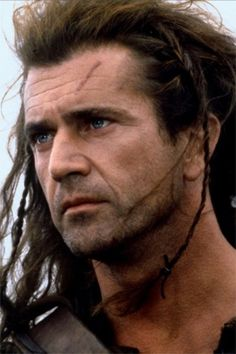 Mel Gibson - Pre-melt down.  What a shame 8-/  So yummy; ESPECIALLY in this role of William Wallace.  ~sigh~