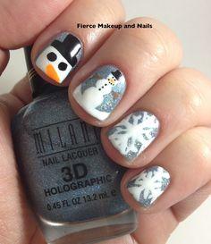 Fierce Makeup and Nails: Snowman Mani