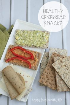 Healthy Crispbread Snack Ideas - how many ways do you think you can top yours? | www.happyfoodhealthylife.com AD