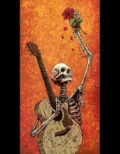 The skeleton musician rests in peace knowing that new life springs eternally from his soul. Painting ProcessThe 13 x 23...