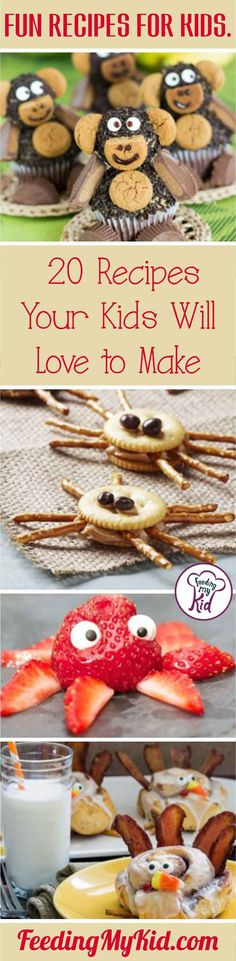 Foster a love for cooking with these fun recipes for kids! Your kids will love all these different food creations. Food art at its finest!