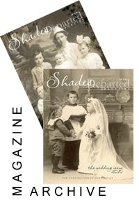 ~ Shades Of The Departed  is a beautiful e-magazine with great articles about vintage photos and genealogy. It is free and available at the Shades website. #gentipjar #genealogy #magazines