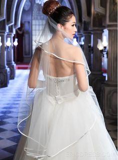 ericdress.com ofrece una alta calidad  hermoso velo de novia blanco Velos de…