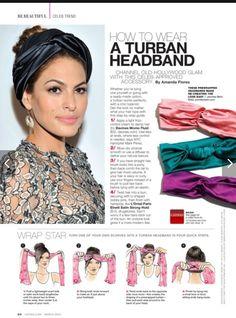 turban tutorial for Latina Magazine Bad Hair Day, Hair Wrap Scarf, Hair Scarfs, Diy Scarf, Bandana Scarf, Turban Tutorial, Bow Tutorial, Flower Tutorial, Curly Hair Styles