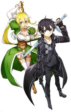 Sword Art Online, Leafa & Kirito, by abec