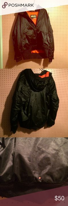 Black Vans Snowboarding Coat Men's size medium snowboarding jacket so it runs bigger. A small about of wear on the bottom in the back other than that it's in really good conditions. All offers accepted it's just taking up space. Vans Jackets & Coats