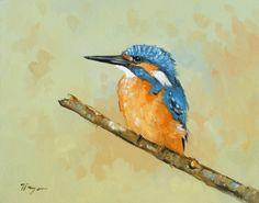 Original Oil painting - wildlife art - bird portrait - kingfisher - by j payne | eBay