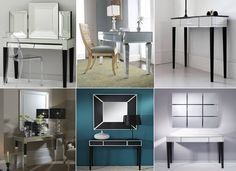 Mirrored Furniture, Floor Mirror, Mirrors, Art Deco, Contemporary, Table, Home Decor, Floor Standing Mirror, Decoration Home