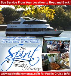 The Spirit of Lake Murray Cruises | Columbia, SC