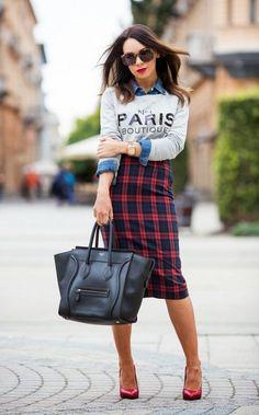 Plaided Skirt - DesignerzCentral