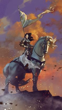 Mythic Games, Inc. is raising funds for Time of Legends: Joan of Arc on Kickstarter! Relive the golden age of chivalry in a player narrative battle game of knights and peasants, heroes and dragons, angels and demons. Fantasy Female Warrior, Female Knight, Fantasy Rpg, Medieval Fantasy, Fantasy Artwork, Woman Warrior, Inspiration Drawing, Fantasy Inspiration, Character Inspiration