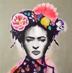 Portrait of Frida Kahlo by Australian artist Emma Gale - Best Nail Art Diego Rivera, Kahlo Paintings, Frida Art, Portraits, Mexican Art, Australian Artists, Oeuvre D'art, Art Quotes, Pop Art