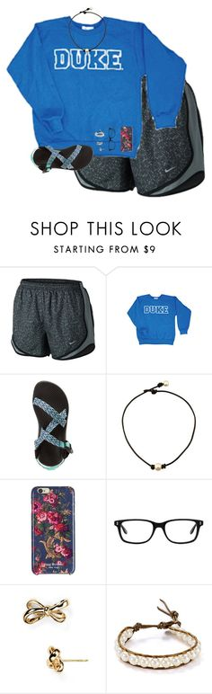 """""""2 soccer games this weekend """" by preppin ❤ liked on Polyvore featuring NIKE, Chaco, Isaac Mizrahi, Eddie Bauer, Kate Spade and Chan Luu"""