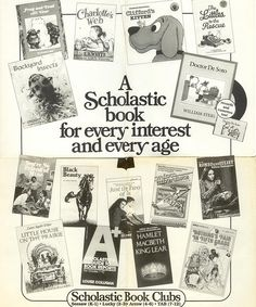 A Scholastic Book Clubs flyer from 1984