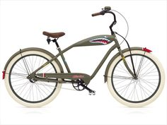 CRUISER TIGER SHARK 3I KHAKI MATOWY - ELECTRA BICYCLE - Store Bikes - SkyStore.com.pl