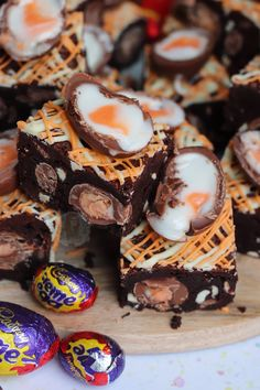 *This post may contain affiliate links. Please see my disclosure for more details!* Super Chocolatey and Delicious Creme Egg Brownies, with Chocolate Chips, even more. Chocolate Fudge Cupcakes, Chocolate Orange Cheesecake, Mint Chocolate Chips, Crunchie Cupcakes, Malteser Cupcakes, Fudge Cake, Mini Eggs Cake, Egg Cake, No Bake Vanilla Cheesecake