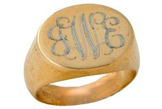 Large Gold-Filled Signet Ring