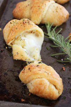 Cheesy Stuffed Garlic Butter Crescent Rolls