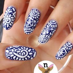 Tribal Plate Nails by Fariha A