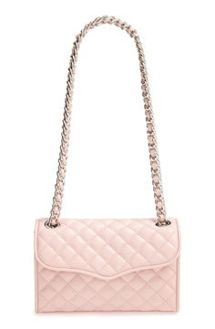 pastel pink Rebecca Minkoff quilted crossbody