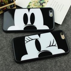 Mirror Case For Apple iPhone 7 6 6S 6 Plus 6s Plus 7 Plus 5 5S SE Capa Sweetheart Mickey Minnie Mouse Silicone Phone Cover Shell