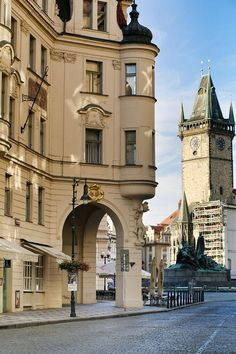 Streets Of Old Town, Prague, Czechia 🇨🇿 Most Beautiful Cities, Beautiful Buildings, Wonderful Places, Beautiful Streets, Oh The Places You'll Go, Places To Travel, Travel Around The World, Around The Worlds, Voyage