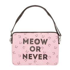 Meow or Never Soft Laptop Case