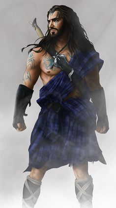 Celtic warrior  Looks like Thorin Oakenshield in a kilt.