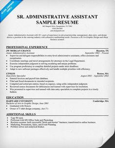 Senior #Administrative Assistant Resume (resumecompanion.com) | Resume  Samples Across All Industries | Pinterest | Administrative Assistant Resume  And ...  Adminstrative Assistant Resume