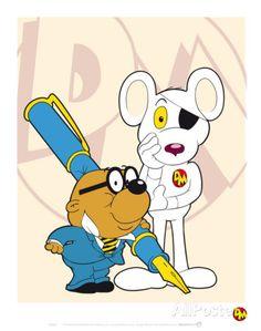 Danger Mouse and Penfold Kunstdruck