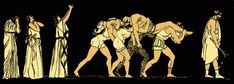 Los tebanos portan los cadáveres de Eteocles y Polinices Alfred J. Church, Argumentos de las tragedias griegas, 1829-1912