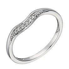 Platinum diamond set shaped band - Product number 1246739