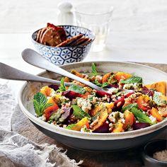Recette de salade de farro, betteraves et clémentines | .coupdepouce.com