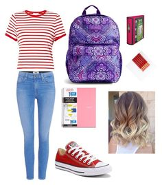 BTS by camyelle on Polyvore featuring polyvore, fashion, style, Miss Selfridge, Paige Denim, Converse, Vera Bradley and clothing