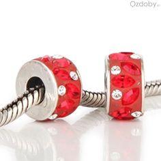 Czerwone koraliki do biżuterii modułowej