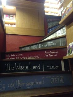 Perfect stairs for a bookshop