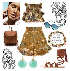 """""""Untitled #215"""" by presidentofunicorns ❤ liked on Polyvore featuring Zimmermann, Tommy Hilfiger, Ancient Greek Sandals and Kastur Jewels"""