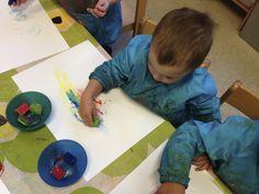 schilderen met ijsblokjes