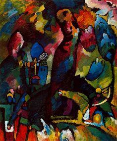 """Kandinsky - """"Cuadro con arquero"""", 1909."""