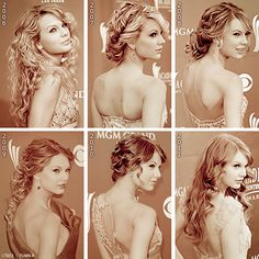 Taylor swift's hairstyles <3