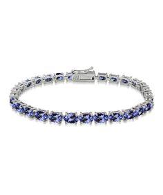 16-tw London Blue Topaz & Sterling Silver Oval Tennis Bracelet #zulily #zulilyfinds