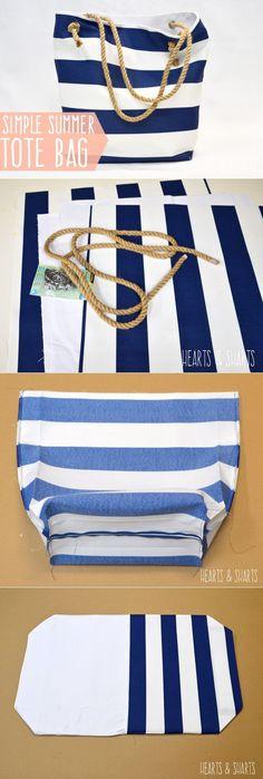 (+1) тема - Эффектная пляжная сумка своими руками | СДЕЛАЙ САМ! Summer Tote Bags, Diy Tote Bag, Sewing Hacks, Sewing Crafts, Sewing Projects, Diy Bags No Sew, Purse Tutorial, Diy Handbag, Fabric Bags