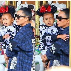 Queen & Princess at Disneyland ❤️ #northwest #kimkardashian