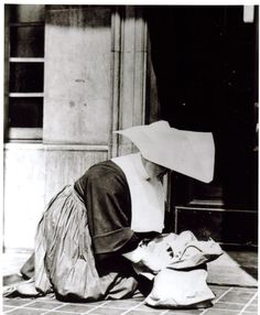 During the depression years it was not uncommon for the bell to ring in the middle of the night and see a blue robed nun in a white starched cap open the door to an abandoned baby wrapped in a newspaper with a note attached.