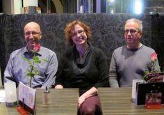 Norma Feye und Martin Barkawitz mit Marcel Wölk, bei der #Thriller Night in der Stadtbücherei Münster.  Norma hat dankenswerterweise für LITERRA auch einen kleinen Bericht darüber geschrieben, den man hier nachlesen kann:  http://www.literra.info/kolumnen/kolumne.php?id=1319 #Ghtetto7 und #Höllentunnel