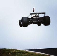 James Hunt in the Hesketh, at Nurburgring in 1975