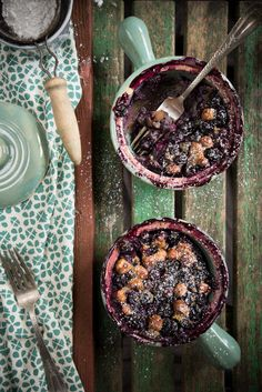 Blueberry Hazelnut Clafoutis recipe by Leek Soup