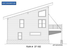 House Plan 40816 - Contemporary, Modern Style House Plan with 1359 Sq Ft, 3 Bed, 2 Bath, 1 Car Garage Garage Apartment Plans, Garage Apartments, New House Plans, Modern House Plans, Garage House, Car Garage, Garage Plans, Garage Ideas, Modern Mountain Home