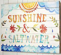 Happy Sea Sayings by Artist Katie Daisy